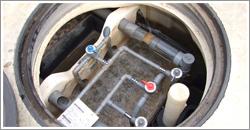 泡を取り除いたら、各パイプが破損していないか?各栓は正常か?水位は正常か?